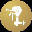 Icoon-bootonderhoud-motor